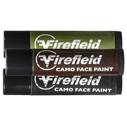 Firefield Woodland Camo Face Paint (3-Tube Pack)