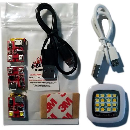 Firehouse Technology Dual Navigation Kit 3- Strobes (White,Red, Green) 16 LED Spotlight