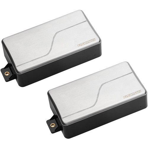 Fishman Fluence Modern Alnico & Ceramic Humbucker Pickup Set for 6-String Guitar (Brushed Stainless)