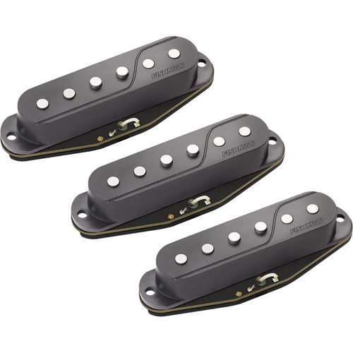 Fishman Fluence Single-Width Pickup for Strat (Set of 3, Black)