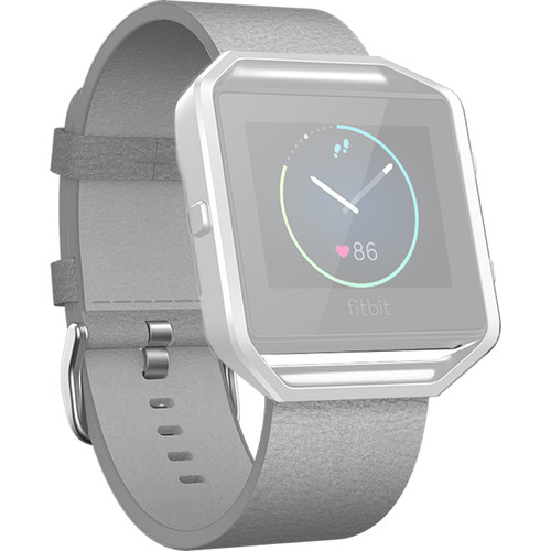 Fitbit Blaze Leather Band (Large, Mist Gray)