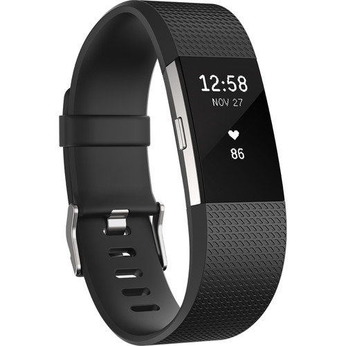 Fitbit Classic Band for Fitbit Charge 2 (Large, Black)