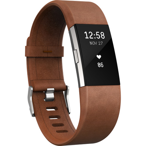 Fitbit Luxe Leather Band for Fitbit Charge 2 (Large, Cognac)