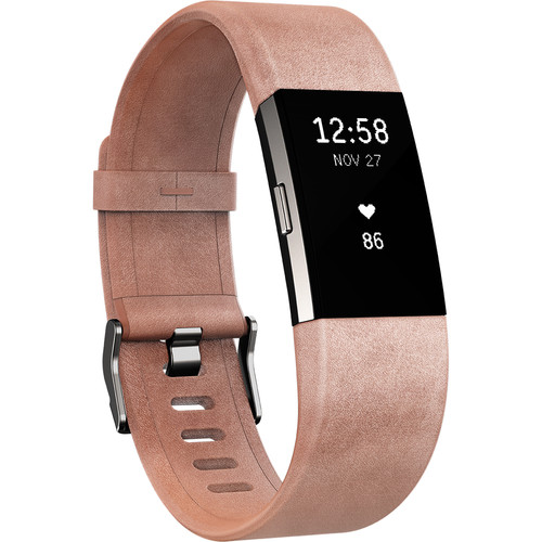 Fitbit Luxe Leather Band for Fitbit Charge 2 (Large, Pink)