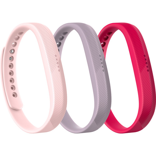 Fitbit 3-Pack of Classic Bands for Fitbit Flex 2 (Large, Pink Pack)