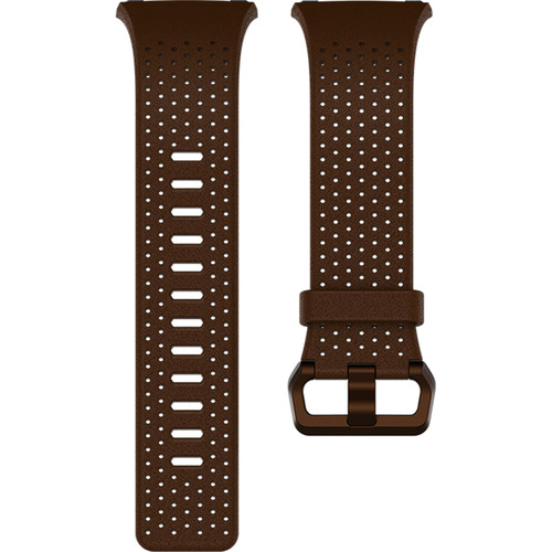 Fitbit Perforated Leather Band for Ionic Watch (Large, Cognac)