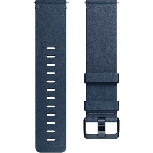 Fitbit Leather Band for Versa Smartwatch (Large, Midnight Blue)