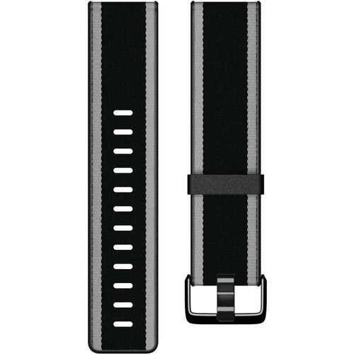 Fitbit Woven Hybrid Band for Versa Smartwatch (Small, Black/Gray)