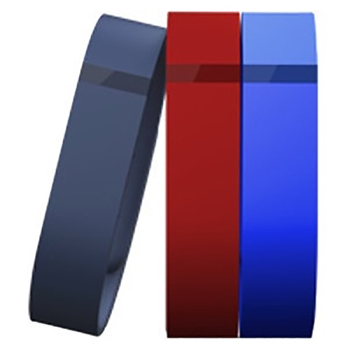 Fitbit Flex Replacement Band Classic 3-Pack (Small, Navy / Red / Blue)