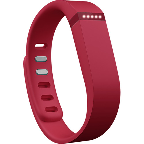 Fitbit Flex Wireless Activity and Sleep Tracker Wristband (Red)