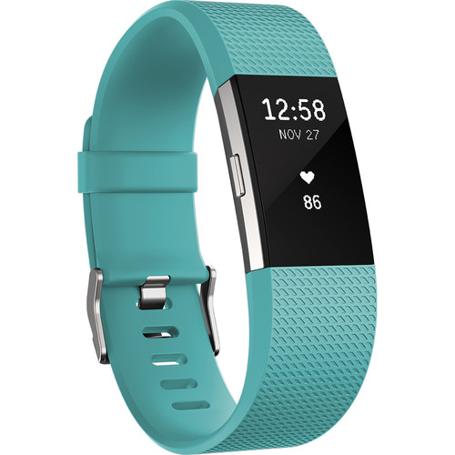Fitbit Charge 2 Fitness Wristband (Large, Teal)