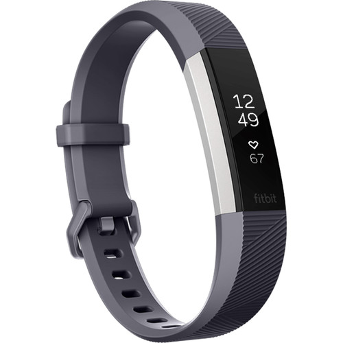 Fitbit Alta HR Activity Tracker (Large, Blue Gray)