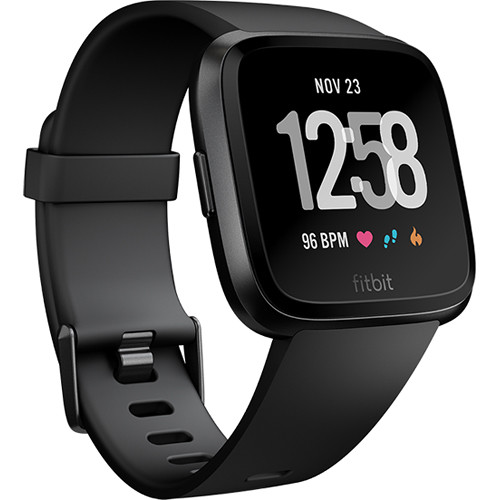 Fitbit Versa Fitness Watch (Black Aluminum)