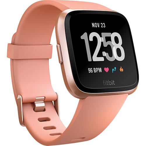 Fitbit Versa Fitness Watch (Peach/Rose Gold Aluminum)