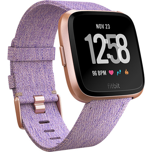 Fitbit Versa Fitness Watch Special Edition (Lavender Woven/Rose Gold Aluminum)