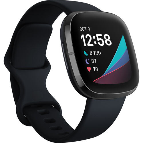 Fitbit Sense GPS Smartwatch (Carbon / Graphite Stainless Steel)