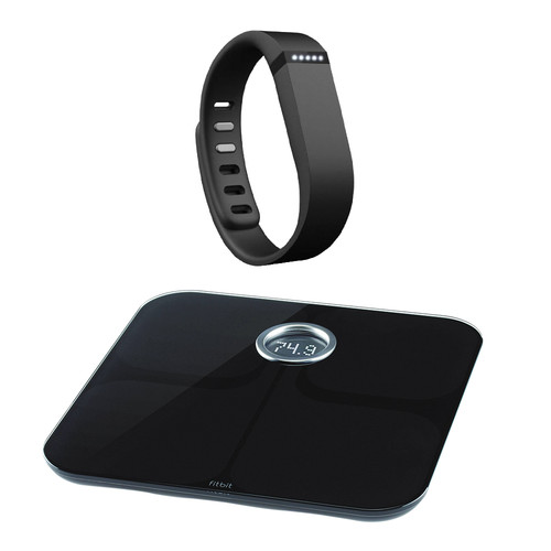 Fitbit Flex Activity + Sleep Wristband with Aria Wi-Fi Smart Scale Kit (Black)