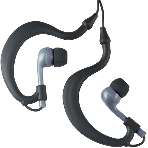Fitness Technologies UWater Triple Axis Action Stereo Earphones (Black and Gray)