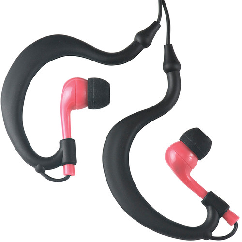 Fitness Technologies UWater Triple Axis Action Stereo Earphones (Black and Pink)