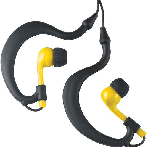 Fitness Technologies UWater Triple Axis Action Stereo Earphones (Black and Yellow)