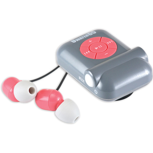 Fitness Technologies UWaterG5 4GB Action MP3 Player with FM Radio (Metallic Gray / Pink)