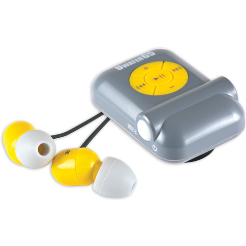Fitness Technologies UWaterG5 4GB Action MP3 Player with FM Radio (Metallic Gray / Yellow)