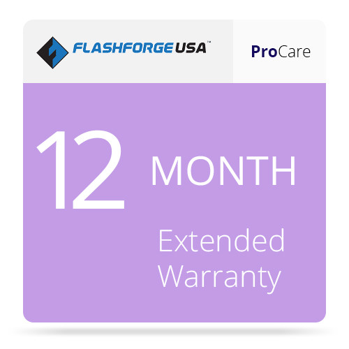FlashForge ProCare 12-Month Extended Warranty for the Finder 3D Printer