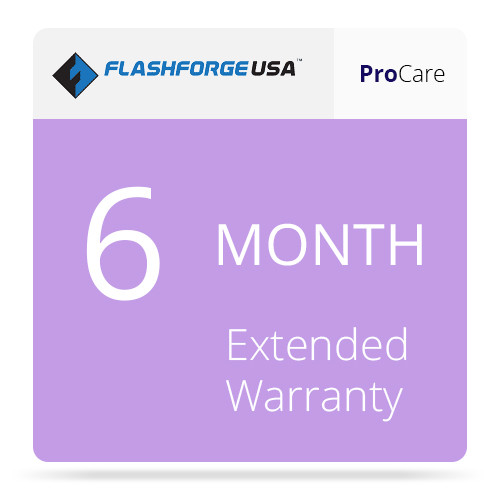 FlashForge ProCare 6-Month Extended Warranty for the Finder 3D Printer