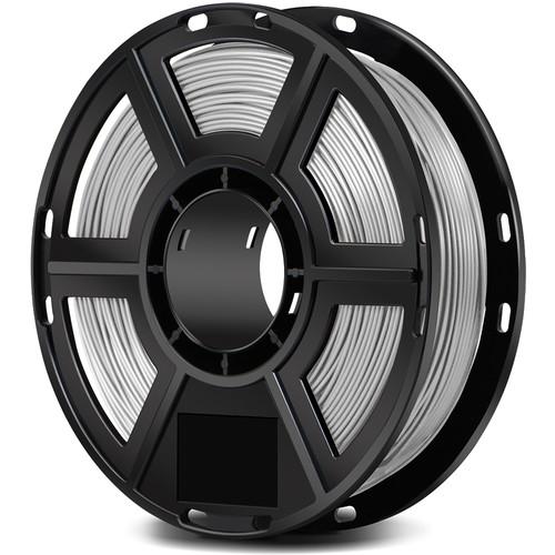 FlashForge 1.75mm PLA Filament for the Finder, Dreamer, Inventor Series, and Adventurer 3 (0.5kg, Silver)