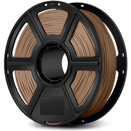FlashForge 1.75mm Wood Filled Filament for the Creator & Guider II Series (1kg, Light Wood)