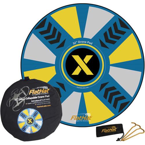 "FlatHat 32"" Drone Landing Pad (Blue & Yellow)"