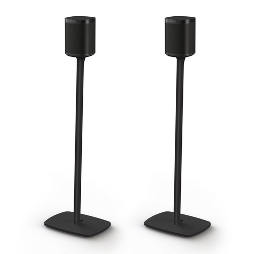 FLEXSON Floor Stands for Sonos One (Black, Pair)