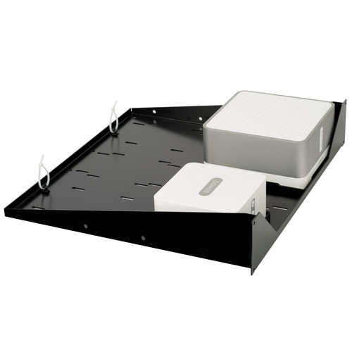 "FLEXSON 19"" Rack Shelf for Sonos Connect and Connect:Amp (Black Metallic)"