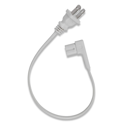 """FLEXSON 13.7"""" Short Power Cable for Sonos PLAY:1 Speaker (White)"""