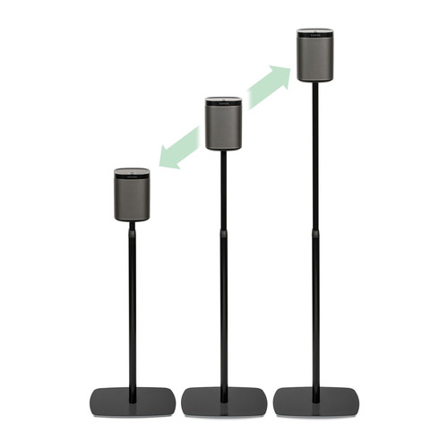 FLEXSON Adjustable Floorstands for Sonos PLAY:1 (Pair, Black)