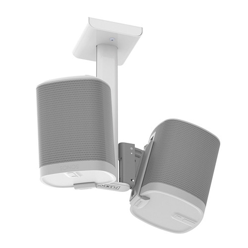 FLEXSON Dual Ceiling Mount for Sonos PLAY:1 Speakers (White)