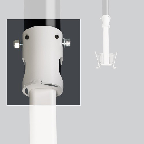 """FLEXSON Pole Adapter for PLAY:1 Ceiling Mount (2"""", White)"""