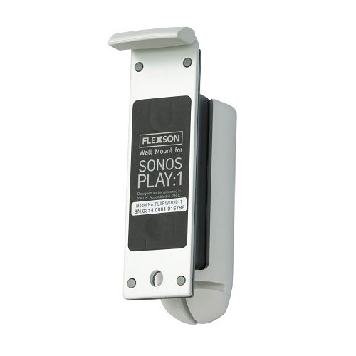 FLEXSON Wall Mount for Sonos PLAY:1 Speaker (2018 Version, White, Single)