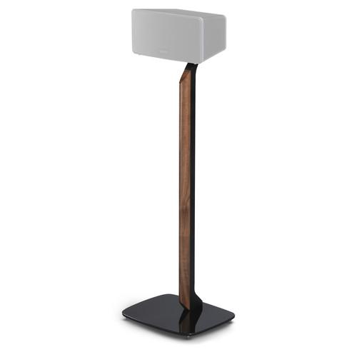 FLEXSON Premium Floor Stand for Sonos PLAY:3 (Black/American Walnut)