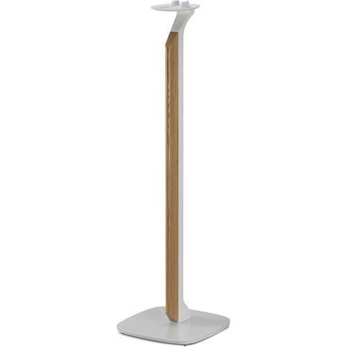 FLEXSON Premium Floor Stand for Sonos One, PLAY:1 (White/Oak)