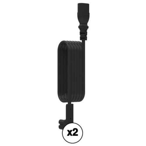 FLEXSON Kit of Right-Angle Power Cord Extensions for Sonos PLAY:1 and 1st Generation PLAY:5 (Pair, Black, 9.84')