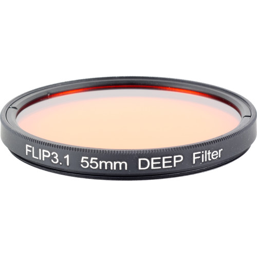 Flip Filters 55mm Threaded Underwater Color Correction Red Filter for GoPro 3/3+/4/5/6/7 (DEEP)