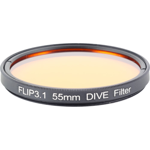 Flip Filters 55mm Threaded Underwater Color Correction Red Filter for GoPro 3/3+/4/5/6/7 (DIVE)