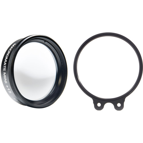 Flip Filters +15 MacroMate Mini Underwater Macro Lens and 55mm Filter Holder for GoPro