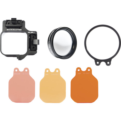 Flip Filters FLIP4 Pro Package with 3-Filter Kit and +15 MacroMate Mini for GoPro