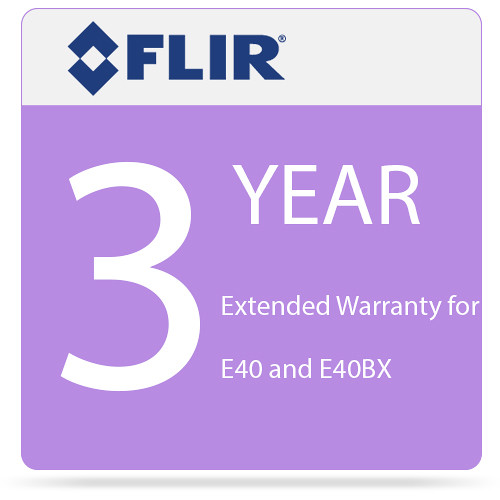 FLIR 3-Year Extended Warranty for E40 and E40bx Camera