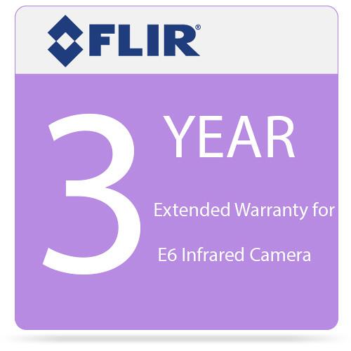 FLIR 3 Year Extended Warranty for E6 Infrared Camera