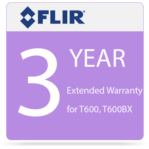 FLIR 3-Year Extended Warranty for T600 and T600bx IR Cameras