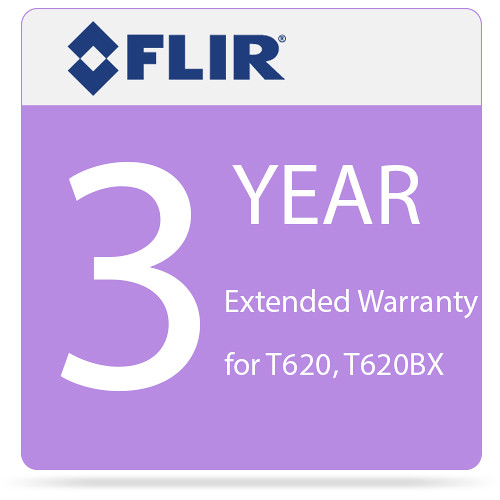 FLIR 3-Year Extended Warranty for T620 and T620bx IR Cameras