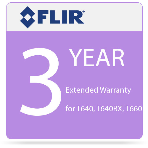 FLIR 3-Year Extended Warranty for T640 and T640bx IR Cameras